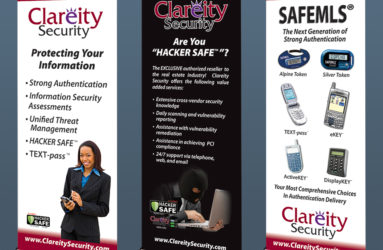 Trade Show graphic samples. Pop up banner stands.